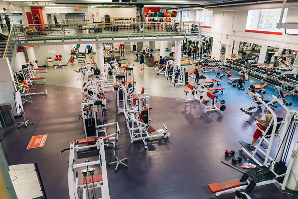 Aerial view image of a gym