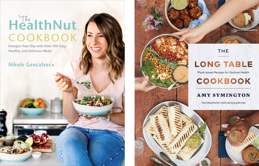 Nikole Goncalves HealthNut Cookbook and Amy Symington The Long Table Cookbook