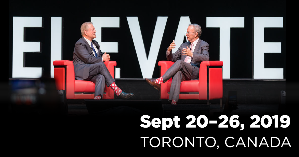 Elevate Tech Conference, Toronto, Sept 20-26, 2019
