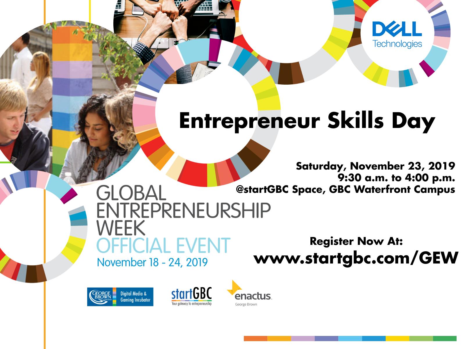 George Brown College Global Entrepreneurship Week 2019, Entrepreneur Skills Day