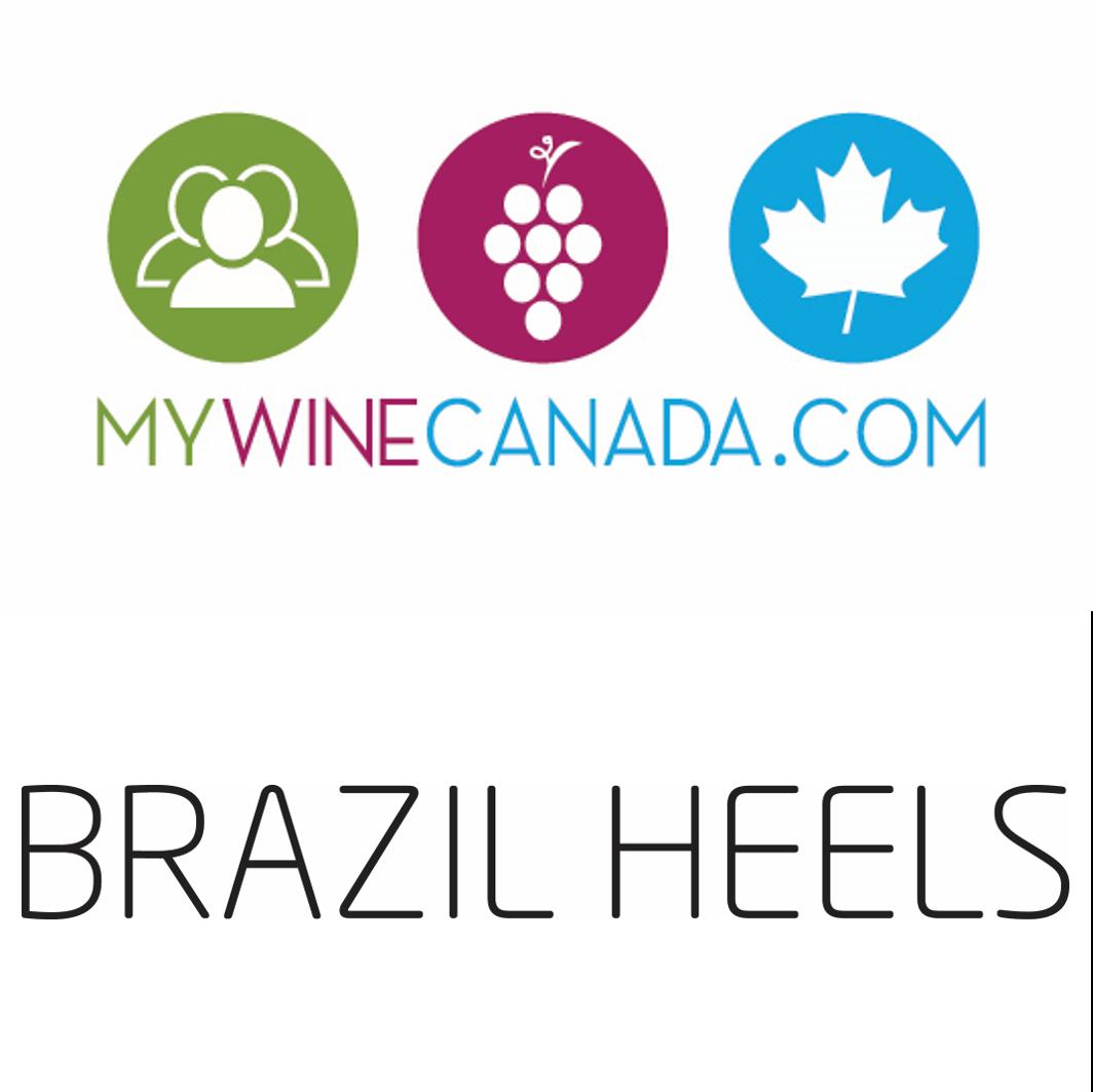 MyWineCanada and Brazil Heels Logos
