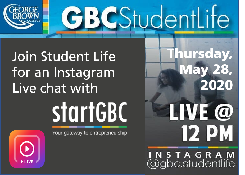 GBC Student Life Instagram Live Session
