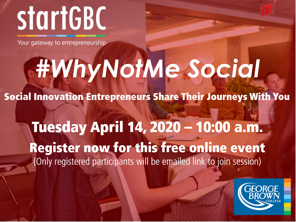 startGBC #WhyNotMe Alumni Social Innovation Entrepreneurs
