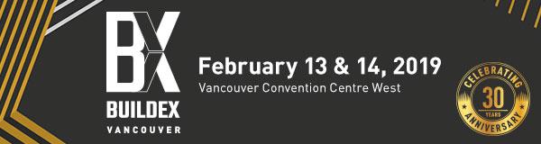 BUILDEX Vancouver - Feb 13 & 14, 2019
