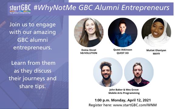 #WhyNotMe GBC Alumni Entrepreneur