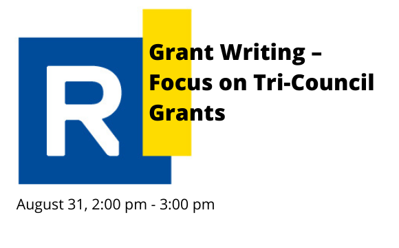 Grant Writing – Focus on Tri-Council Grants