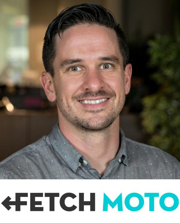 Jesse Thompson bio picture and Fetch Moto logo
