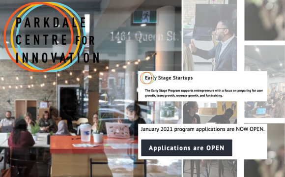 Parkdale Centre for Innovation Early Stage Startup Program