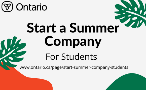 Start A Summer Company_For Students Only