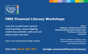 FREE Financial Literacy Workshops for GBC Students