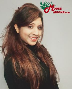 Salma Nadaf Headshot & Moose Moonrace Logo