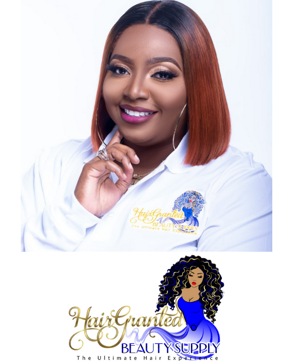 Zhorrah Grant Bio Picture and Hair Granted Beauty Supply logo